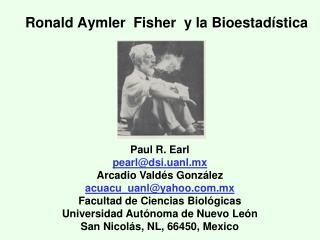 Ronald Aymler  Fisher  y la Bioestad stica