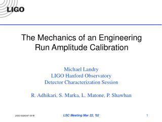 The Mechanics of an Engineering Run Amplitude Calibration