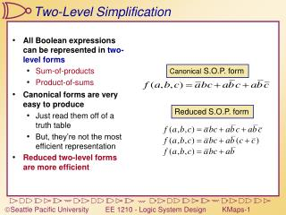Two-Level Simplification