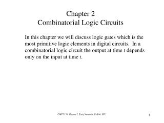 Chapter 2 Combinatorial Logic Circuits