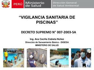 """""""VIGILANCIA SANITARIA DE PISCINAS"""""""