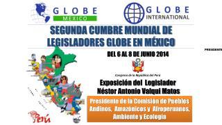 Presidente de la Comisión de Pueblos Andinos,  Amazónicos y  Afroperuanos, Ambiente y Ecología