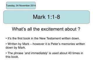 Mark 1:1-8