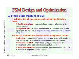 FSM Design and Optimization