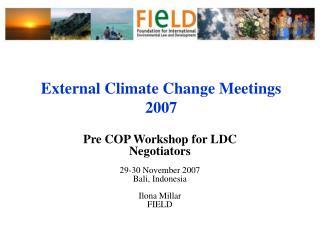 External Climate Change Meetings 2007