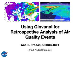 Using Giovanni for Retrospective Analysis of Air Quality Events