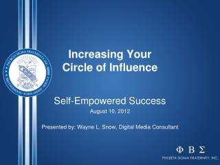 Increasing Your  Circle of Influence