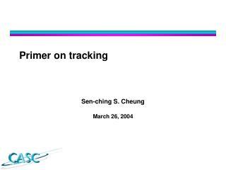 Primer on tracking