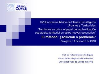 XVI Encuentro Ibérico de Planes Estratégicos Urbanos y Territoriales
