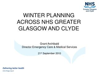 WINTER PLANNING ACROSS NHS GREATER GLASGOW AND CLYDE