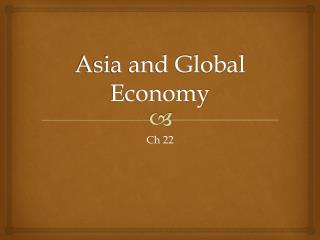 Asia and Global Economy