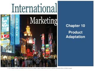 Chapter 10 Product Adaptation