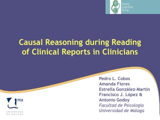 Causal Reasoning during Reading of Clinical Reports in Clinicians