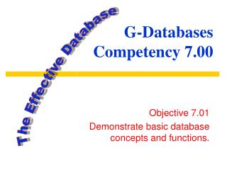 G-Databases Competency 7.00