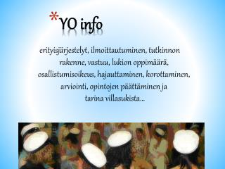 YO info