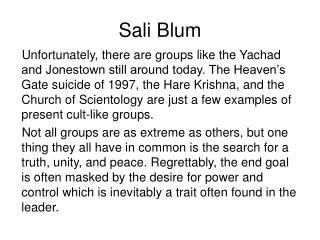 Sali Blum