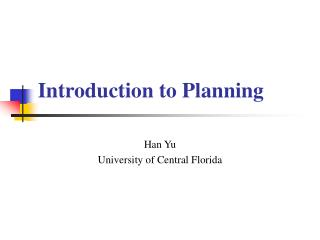 Introduction to Planning