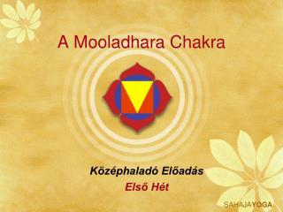 A Mooladhara Chakra