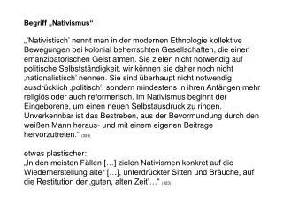 """Begriff """"Nativismus"""""""