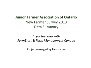 Responding to Farm and Family Business Planning and ...