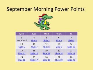 September Morning Power Points
