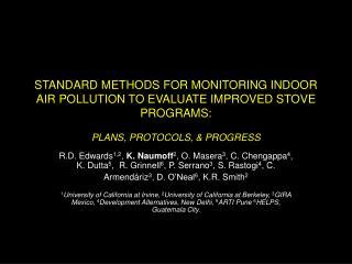 Why do we need standard methods?
