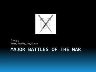 Major Battles of the War