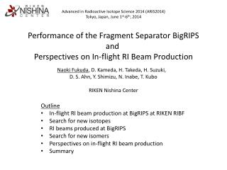 Performance of the Fragment Separator  BigRIPS and  Perspectives on In-flight RI Beam Production