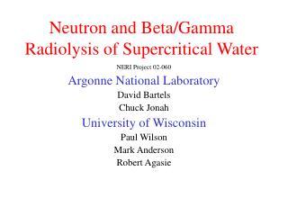 Neutron and Beta