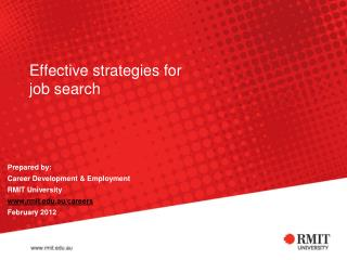 Effective strategies for job search