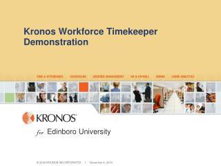 Kronos Workforce Timekeeper Demonstration