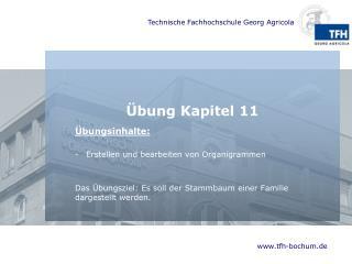 Übung Kapitel  11