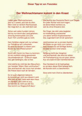 Dieser Tipp ist von  Franziska: Der Weihnachtsmann kommt in den Knast
