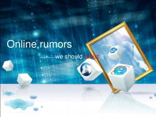 Online  rumors