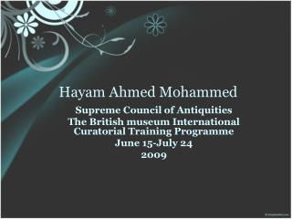 Hayam Ahmed Mohammed