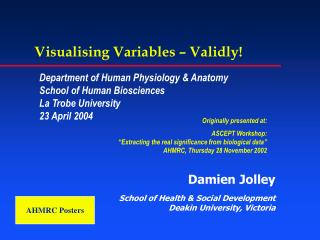 Visualising Variables – Validly!