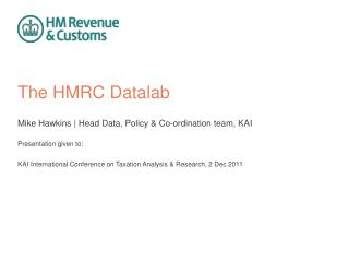 The HMRC Datalab
