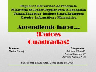 Republica Bolivariana de Venezuela Ministerio del Poder Popular Para la Educaci�n