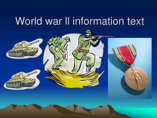 World war ll information text