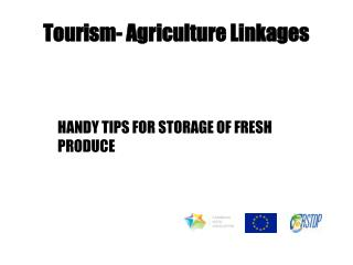 Tourism- Agriculture Linkages