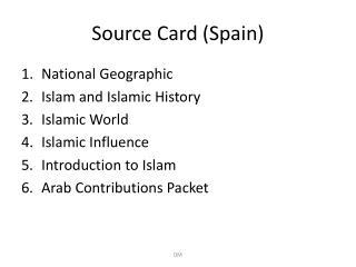 Source Card (Spain)