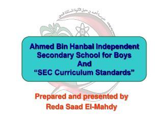 Prepared and presented by Reda Saad El-Mahdy
