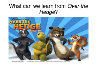 What can we learn from  Over the Hedge ?