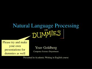 Natural Language Processing