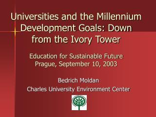 Bedrich Moldan Charles University Environment Center