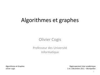 Algorithmes et graphes