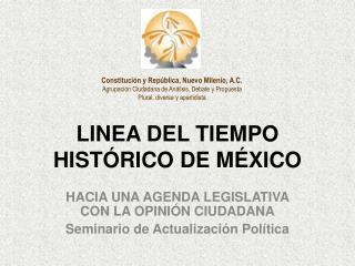 LINEA DEL TIEMPO HIST RICO DE M XICO