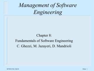 Management of Software Engineering