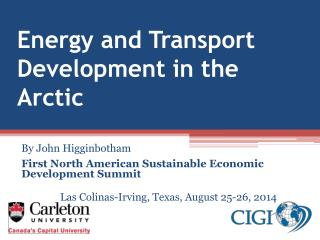 Energy and Transport  Development in the Arctic