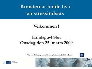 Velkommen ! Hindsgavl Slot Onsdag den 25. marts 2009
